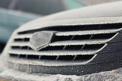 inverno da geada do carro Foto de Stock Royalty Free
