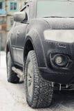 inverno da geada do carro Imagens de Stock