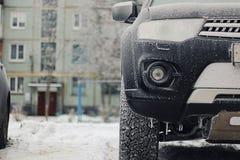 inverno da geada do carro Fotos de Stock Royalty Free