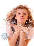 Inverno da menina Imagens de Stock Royalty Free
