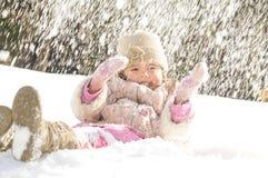 Inverno da menina fotos de stock
