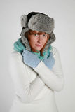 Inverno da mulher Foto de Stock Royalty Free