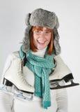 Inverno da mulher Fotos de Stock Royalty Free