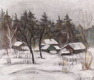 Inverno da neve ilustração do vetor