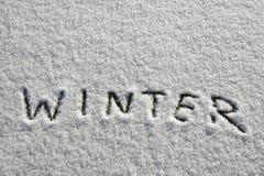 Inverno da neve Fotos de Stock Royalty Free