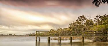 Inverno dal lago Fotografia Stock