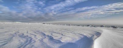 Inverno dal mare Fotografie Stock