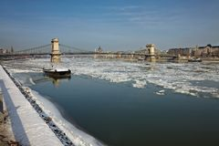 Inverno Danubio Fotografie Stock