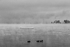 Inverno de Chiemsee Imagens de Stock