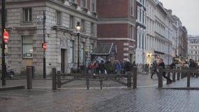 inverno de Covent Garden Londres video estoque