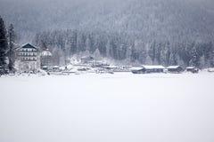 inverno de Eibsee Imagem de Stock Royalty Free