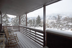 inverno de Front Poarch Fotografia de Stock Royalty Free