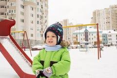 Inverno del bambino Fotografia Stock