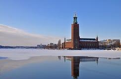 Inverno del corridoio di città di Stoccolma Fotografie Stock