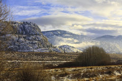 Inverno del deserto Fotografie Stock