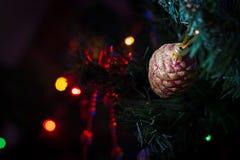 Inverno del fondo della decorazione di Natale Fotografia Stock