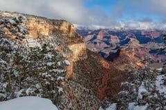 Inverno del Grand Canyon scenico Fotografie Stock Libere da Diritti