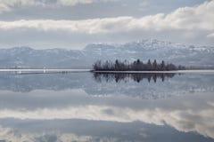 Inverno del lago Osoyoos Immagine Stock Libera da Diritti