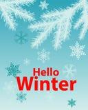 Inverno del manifesto ciao Fotografia Stock