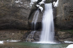 Inverno della cascata Immagine Stock Libera da Diritti