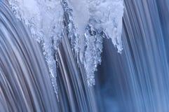 Inverno della cascata dell'insenatura di Portage fotografie stock