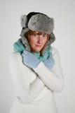 Inverno della donna Fotografia Stock Libera da Diritti
