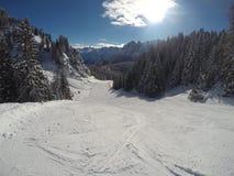 Inverno della neve delle alpi Fotografia Stock Libera da Diritti