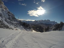 Inverno della neve delle alpi Fotografia Stock