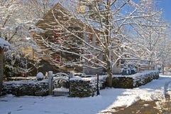 Inverno della Nuova Inghilterra fotografie stock libere da diritti