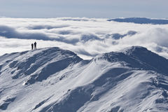 Inverno della parte superiore della montagna Immagini Stock Libere da Diritti