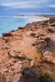 Inverno della riva di mare della spiaggia dell'Australia della scogliera di Ningaloo bello Immagine Stock