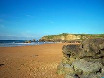 Inverno della spiaggia delle Asturie fotografia stock