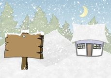 Inverno della struttura della foto illustrazione vettoriale