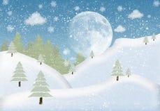 Inverno della struttura della foto con abete e neve illustrazione di stock