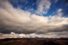 inverno della tempesta di schiarimento Fotografia Stock