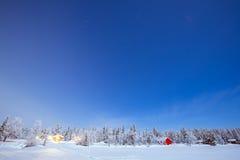 Inverno della traccia della stella Fotografia Stock Libera da Diritti