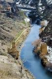 Inverno di Ani Ruins Silk Road Bridge (stagione 4) fotografie stock libere da diritti