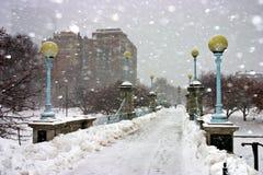 Inverno di Boston Immagine Stock