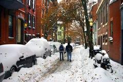 Inverno di Boston Fotografie Stock Libere da Diritti