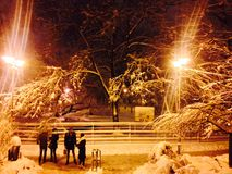 Inverno di Bucarest Immagini Stock Libere da Diritti