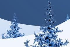 Inverno di frattalo Fotografie Stock Libere da Diritti