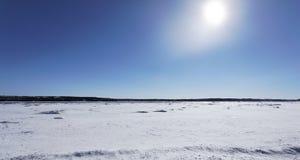 Inverno di giorno pieno di sole Fotografie Stock Libere da Diritti