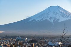 Inverno di Kawaguchiko, montagna di Fuji, Giappone fotografia stock libera da diritti