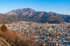 Inverno di Kawaguchiko, montagna di Fuji, Giappone immagini stock libere da diritti