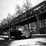 Inverno di Mini Cooper fotografia stock libera da diritti