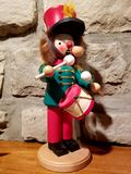 Inverno di Natale del ragazzo del batterista delle schiaccianoci Fotografie Stock