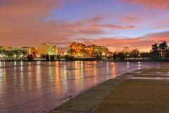 Inverno di paesaggio urbano del Washington DC Immagine Stock