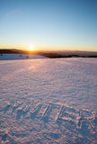 Inverno di parola scritto in neve Fotografia Stock Libera da Diritti