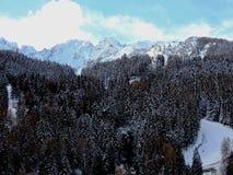 Inverno di Ponte di legno In Fotografia Stock Libera da Diritti
