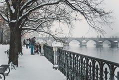 Inverno di Praga Immagine Stock